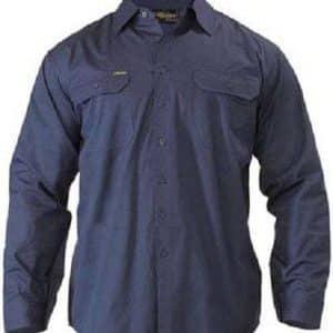 LightWeight Drill Shirt Long Sleeve- Navy