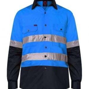 TwoTone HiVis Shirt 2XS - 6XL - Blue Navy