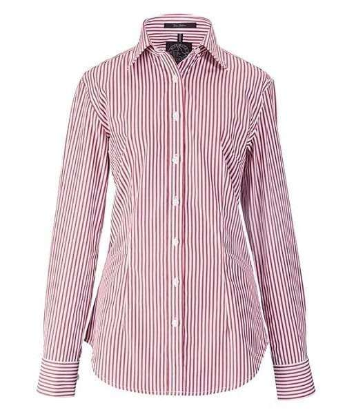 Fine Cotton Stripped Shirt - Red & White