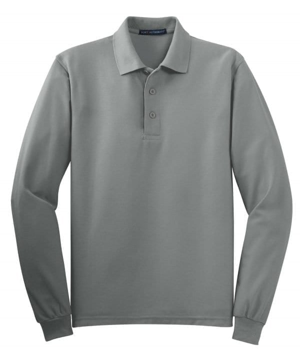 Silk Touch Polo Long Sleeve - Cool Grey