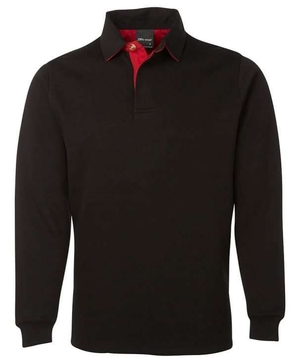 Iconic Rugby Shirt - Black/Red