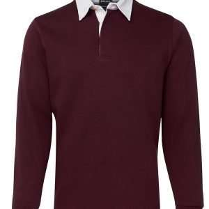 Iconic Rugby Shirt - Maroon/White