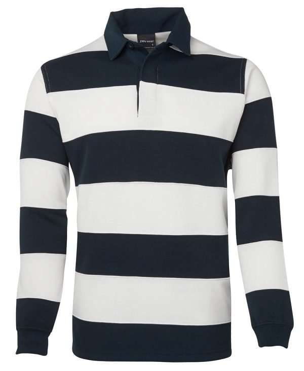 Iconic Rugby Shirt - Striped Navy/White