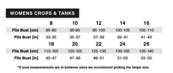 Tradie Lady Crops - Sizes