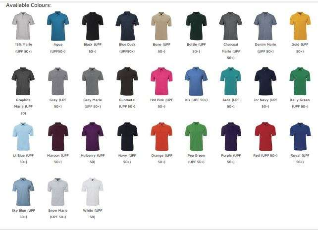 Available colours $20 Polo